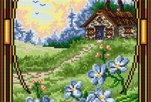Flower & house