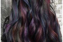 Oil Slick Dark Wavy Hair