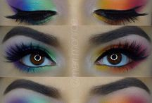 Makeup / Makeup, eyeshadows, cut crease, colorful, nude