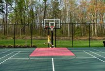 Multi Use Courts / Not sure what type of court you would like installed in your backyard? No problem! DeShayes Dream Courts can install a multi-use court with basketball, tennis, volleyball, foursquare, shuffleboard, & bocce lines, and more! A multi use court can decrease the decision making and increase the opportunities for fun!