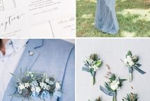 #BlueWedding / Something old, something new, something borrowed and something BLUE! Find the perfect shade of blue for your bridesmaids gowns, shoes, tuxedos and more at Perfect Weddings!