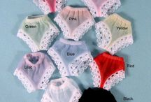 Doll Panties and Underwear / Doll panties, doll slips, socks and lingerie for new and vintage dolls / by Shirley Childers