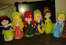 feltro princesas