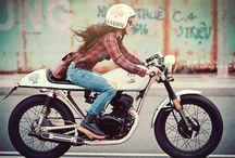 Cafe Racer Lady