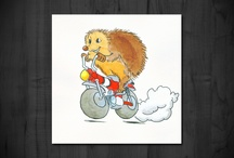 hedgehog / hedgehog on a motorbike is a small character that was created in 2007