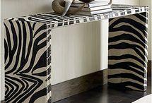 Zebra Print Ideas / Some do yourself home decor ;)