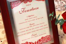 Wedding menues