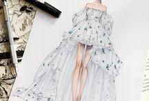 sketched dress
