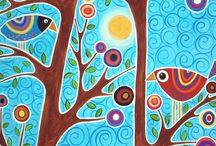 Folk Art Birds / by Lori Johnson