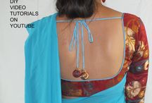 How to make a saree blouse / I created this board to show you all the tutorials I will be launching on the web for sari / saree blouses