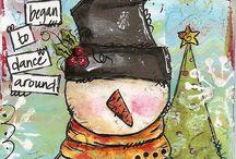Mixed media Christmas