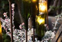 Ljus i trädgården