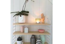 My home / String pocket shelf