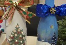 flessen voor kerst maken