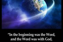 John 1:1 / In th beginning was the WORD, and the WORD was with GOD, and the WORD was GOD