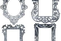 craft: silhouette ornamenti-cornici-bordi