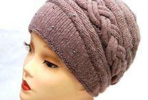 шапка коричневая