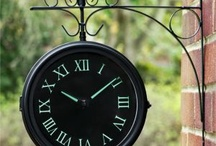 Outdoor Garden Clocks / Great selection of outdoor clocks for your garden / by Primrose