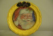 creazioni natalizie / candele centrotavola e oggetti natalizi