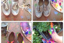 Rengarenk ayakkabılarım