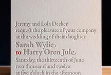 Wedding Invitations / by Emma Thulborn