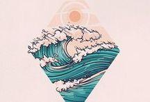 татуировки море