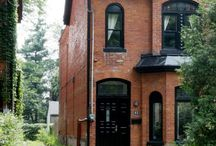 Brick farmhouse exteriors