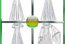Viking dresses pattern