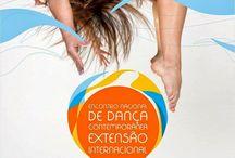 Eventos Nacionais de Dança / Balaio com materiais de divulgação, entre outros, de eventos nacionais de dança.