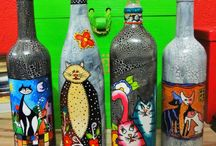 Botellas pintadas!!