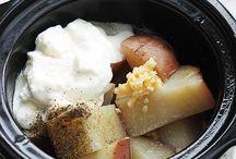 Food in a crock pot