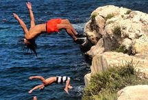 Cliff jumping / Well... jumping off a cliff