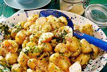 schmackhafte Kartoffelsalate