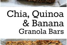 Chat Quinoa & Banana Granola Bars
