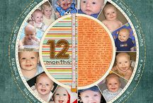 Digital Scrapbooking: Baby Layouts