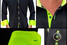 Neon Collection Dress Shirts / Anton Alexander - The brightest of the bright fabrics in the world. The neon collection innovative fabrics also glow in the dark. Our shirts are proudly made in the USA.