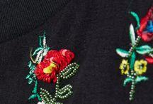 """Inspirations broderie sur vetement / customisation, embellissement d""""un vêtement"""