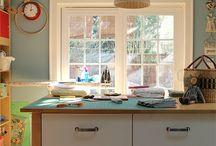 craft room / home decor and remodeling, craft studio design