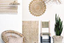 Rotin / Retrouvez dans ce tableau plein d'idées de créations en rotin : miroir, corbeille, fauteuil, suspension, ...