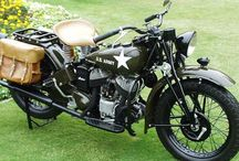 Indian motorcycles/army vehicles