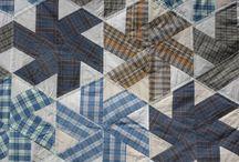 Quilts faits avec des chemises / by Isabelle Stirnemann Strappazon