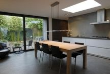 uitbouw woonkamer en keuken