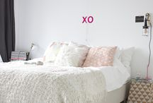 Our bedroom; white, bright, nordic