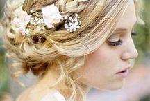 Bröllop, klänning, frisyr, med mera <3