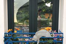 PANNI STESI -THE FLOWER brevetto officineEDA / fioriere in acciaio : ottima alternativa  per arricchire i davanzali delle finestre o le ringhiere dei balconi  in modo originale e colorato. Una splendida sorpresa sia per voi che per chi li noterà. Ogni pezzo è totalmente unico , in quanto progettato e realizzato secondo le vostre preferenze. finitura: acciaio zincato trattato con vernici epossidiche .