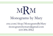 Monograms By Mary / Embroidered things...