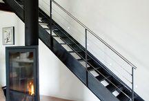 cheminée et escalier