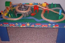 Toy Train Table Plans & Trains 4 Kids / Build a #toy #train #table in 3 hours, save up to 75%. Fun toy trains for kids and build your own toy train table #plans.
