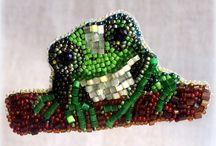 "MY WORK. Brooch ""Frog''."
