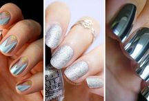 Silver Nails / Silver nails, uñas plateadas, uñas color plateado, uñas plata, nailart